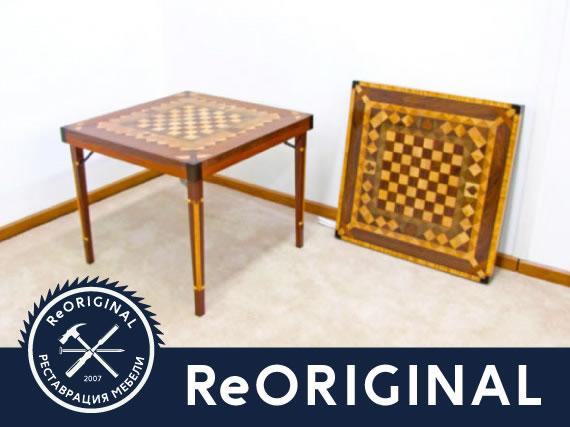 Реставрация старых игровых столов