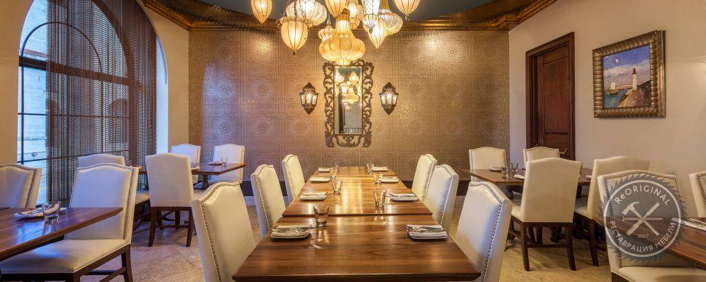 реставрация мебели для ресторана