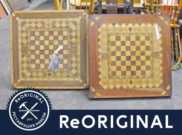 Игровые столы требуют реставрации