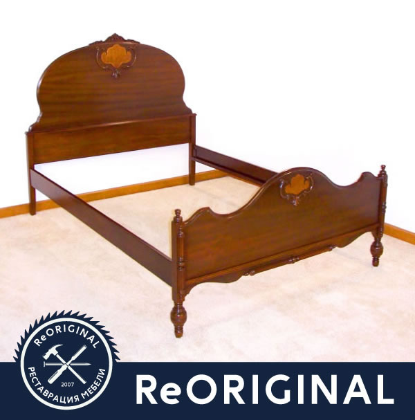 Отремонтированный каркас кровати