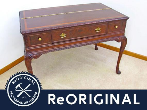 Реставрация старинного стола-секретера