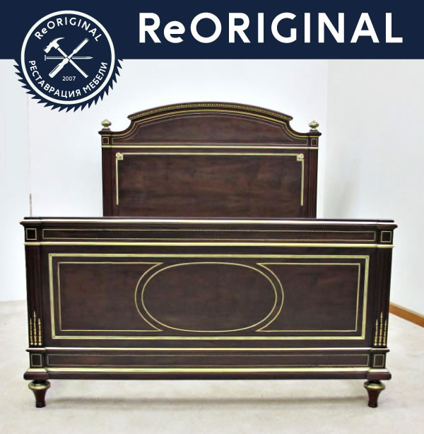 Кровать после реставрации