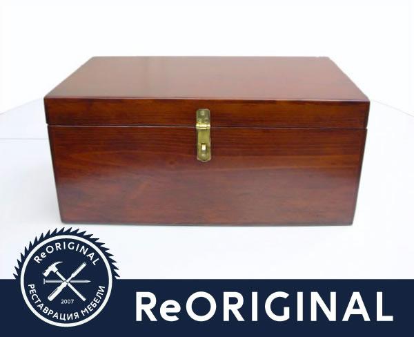 Отреставрированный ящик для инструментов